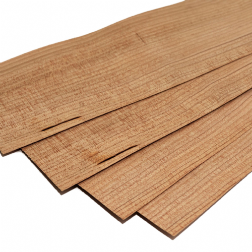 "Cedar of Lebanon veneer Set of 4 leafs: 22"" x 5"" ( 56 x 13cm )"
